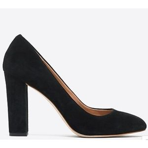 J. Crew | Black Suede Closed Toe Pumps